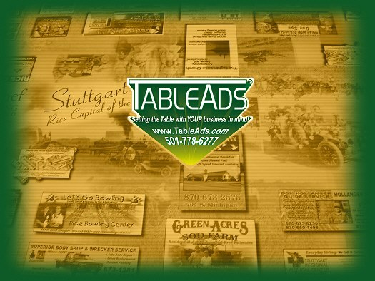 Welcome to TableAds®! Table Top Advertising!